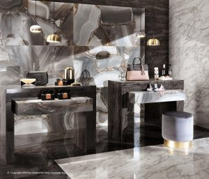 Atlas Concorde Marble look - Marvel Edge Absolut Brown, Agata Azul - Atti Creatve Studio Bacau